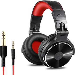 Roloiki Professional Musical Instrument Monitor Headphones Wired Headset with 3.5mm & 6.5mm Audio Cables for Electrical Pi...