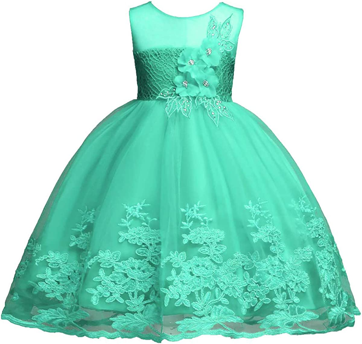 Girls Wedding Party Lace Dress Princess A surprise price is realized Bridesmaid Pageant Over item handling ☆ Flowe