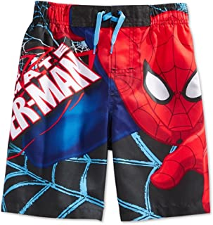 aa114d33d4 Marvel Ultimate Spider-Man Little Boys Superhero Swim Trunks Board Shorts