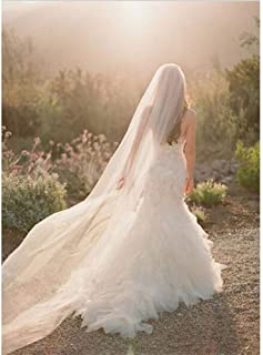Long Chapel Bride Veil Women 3M Bridal Veil Soft Tulle Wedding Accessories With Free Crystal Comb 1T/2T/3T 0608 yynha (Col...