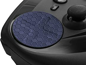 TouchProtect HEX - Enhance Tactile Feel, add Style, and Protect Your Trackpads. for Steam Controller and HTC Vive Controllers. Deep HEX Texture (Metallic Blue)