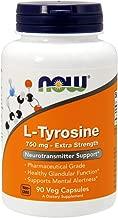 Now Supplements, L-Tyrosine 750 mg, 90 Veg Capsules