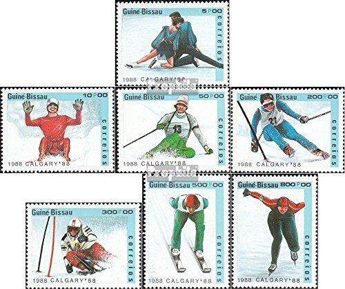 Prophila Collection Guinea-Bissau 927-933 (kompl.Ausg.) 1988 Olympische Winterspiele, Calgary (Briefmarken für Sammler) Wintersport