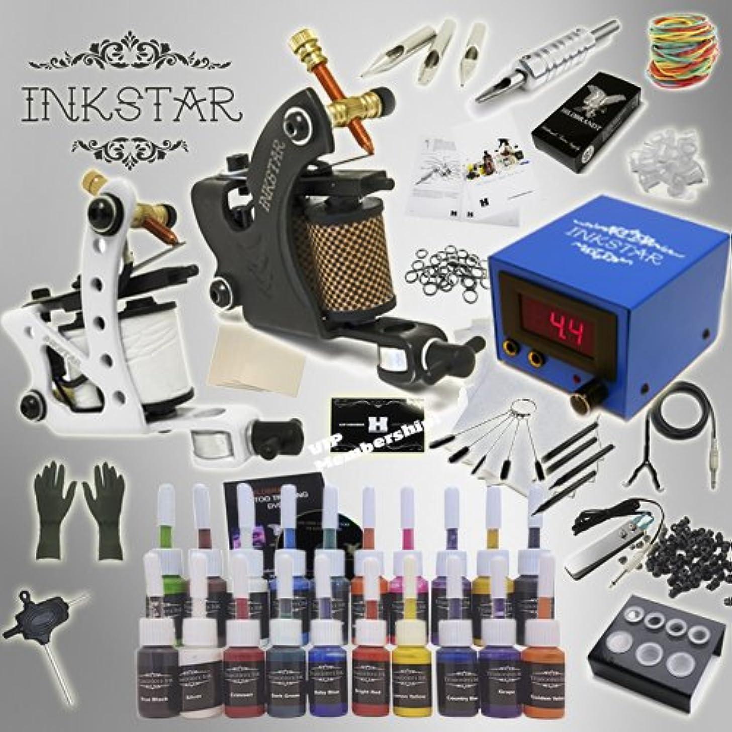 Complete Tattoo Kit Inkstar Journeyman C Machine Gun Power Supply 20 Truecolor Starter Ink Set