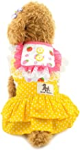smalllee_lucky_store Small Dog Easter Dress Cotton Tutu Dress for Girl Summer Skirts, X-Large, Yellow