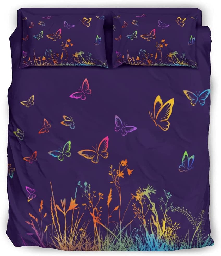 Rtisandu Four Piece Bedding Sets Sheet Set Butterfly Bed Ranking TOP5 Include Gorgeous