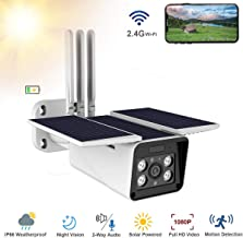 Thinlerain Outdoor Solar Powered Home Security Camera,...