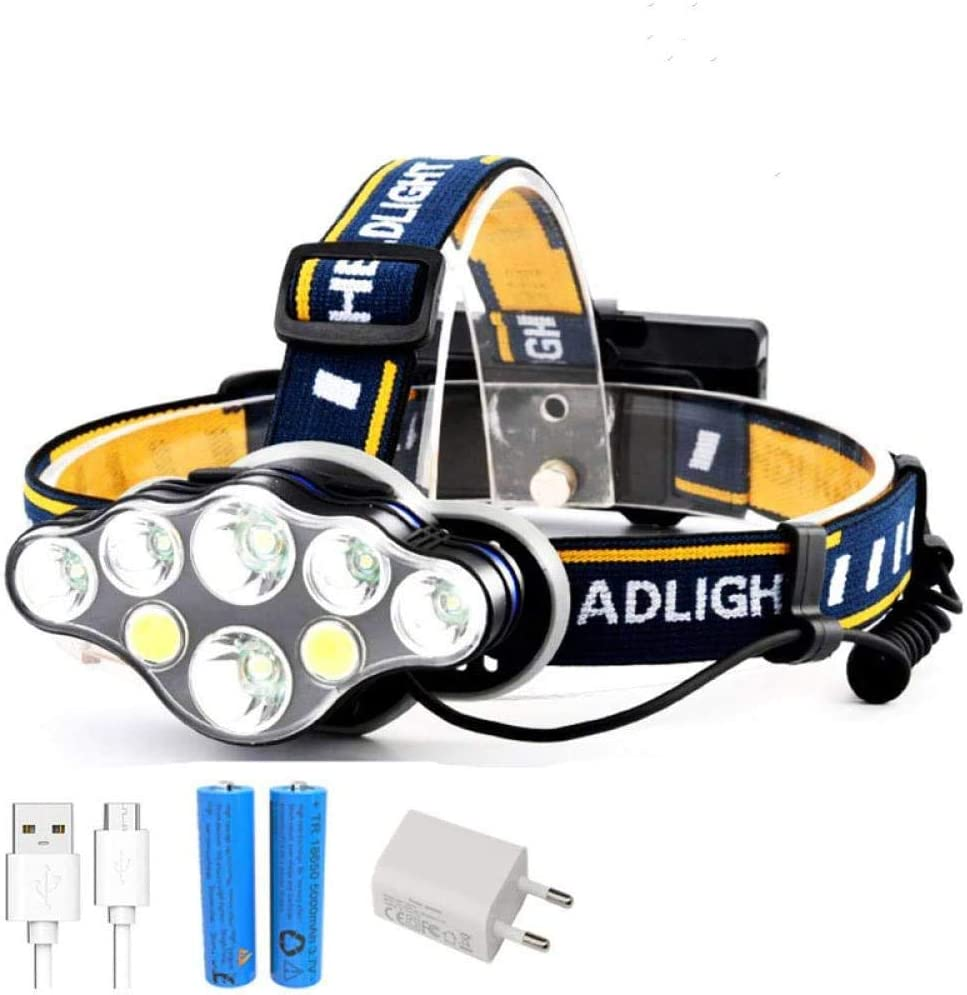 Boston Mall HUIZHANG Headlamp T20 LED Rechargeable H Financial sales sale Modes 8 T6 COB