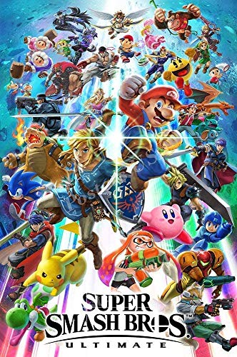 Burning Desire Poster Póster Súper Smash Ultimate Bros conmutador Acabado Brillante