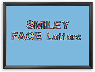 Hygloss Products Bulletin Board Letters and Numbers – Punch Out Smiley Faces Design Combo – 3 Inch, 350 Pieces