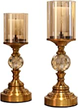 Estrymiw 2pcs Candlestick Decoration Modern Windproof Candle Holder American Wedding Props Wedding Candle Holder Dining Ta...
