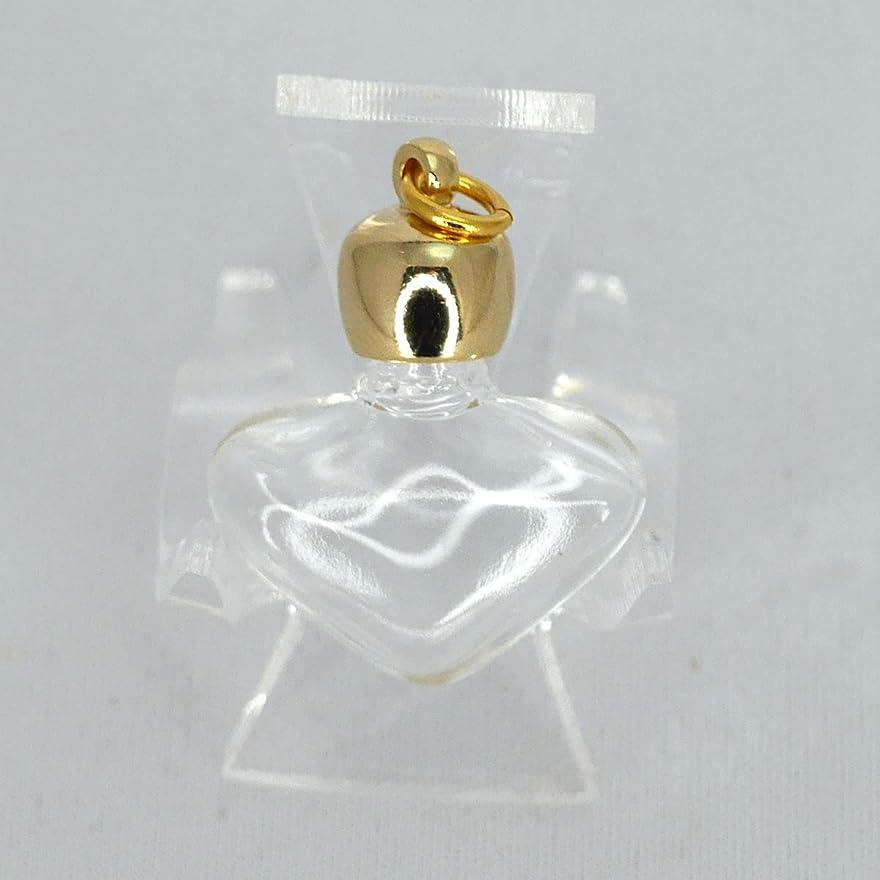 本当のことを言うと伝染性のホステルミニ香水瓶 アロマペンダントトップ ハートスキ(透明)0.8ml?ゴールド?穴あきキャップ、パッキン付属【アロマオイル?メモリーオイル入れにオススメ】