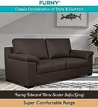 Furny Edward Three Seater Sofa (Grey)