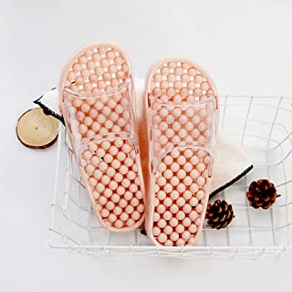 Women Massage Slippers Summer Fashion Leakage Design Non Slip Indoor Outdoor Woman House Shoes Beach Bathroom Slipper Men Slide (Color : E, Shoe Size : 38)