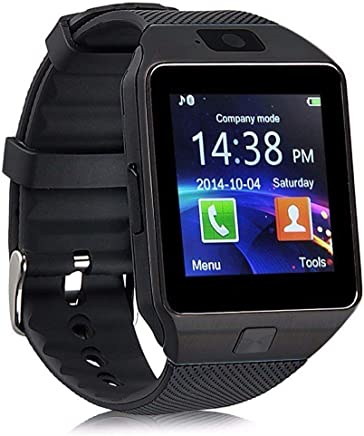 NALMAK DZ56 Model_TE4 Bluetooth Smartwatch with Camera and Sim Card Support with Touch Screen for All Android and iOS (Black)