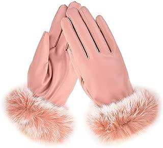 SGJFZD Women Winter Gloves Outdoor Waterproof Touch Screen Fit Elegant Gloves for Walking Cycling Ridding Windbreak Gloves (Color : Pink, Size : OneSize)