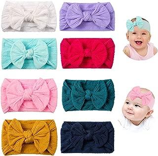Baby Girl Headbands and Bows Solid Turban Hair Band...