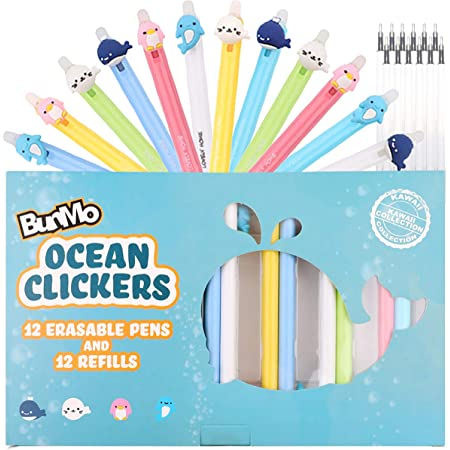 Character Autograph Pens Friends DCL Cruise Fish Extender Gifts Parks Set of 3 White Gray and Blue Otter Seal Silicone Pens