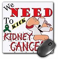 3drose Kick腎臓がん–マウスパッド、8× 8インチ( MP _ 202697_ 1)