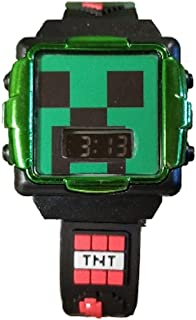Accutime Minecraft Flashing LCD Watch Chrome Face