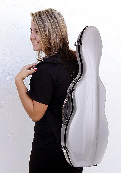 Custodia per violino 4/4 fiberglass colore argento tonareli VNF1004