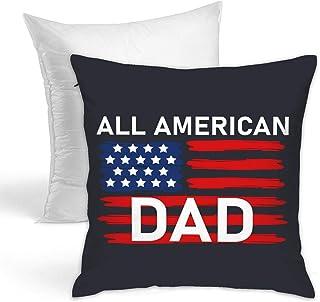 Fundas de almohada y almohadas para reposacabezas. 45,7 x 45,7 cm, un conjunto de papá americano