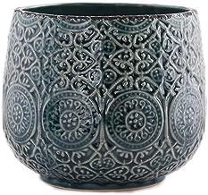Little Green House Ceramic Blue Round Vase - Large