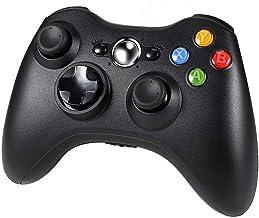 Diswoe Manette Xbox 360, Contrôleur de Jeu sans Fil pour Xbox 360 avec Double Vibration, Bluetooth Gamepad Manette du Cont...