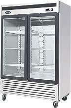 Atosa USA MCF8707 Series 55-Inch Glass Two Door Merchandiser Upright Refrigerator