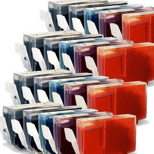 20x Druckerpatronen-Set Mit CHIP für Canon Pixma IP 4200 (je Farbe 4 Patronen) - mit Chip kompatibel für IP4200, 4x26ml, 6x13ml