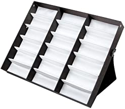 18 Grid Sunglasses Storage Box Organizer Glasses Display Case Stand Holder Eyeglasses Box Sunglasses Case with Foldable Li...