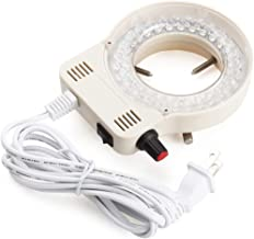 Micrl Microscope Ring Light Adjustable 56 LED Illuminator for Stereo Microscope (White)