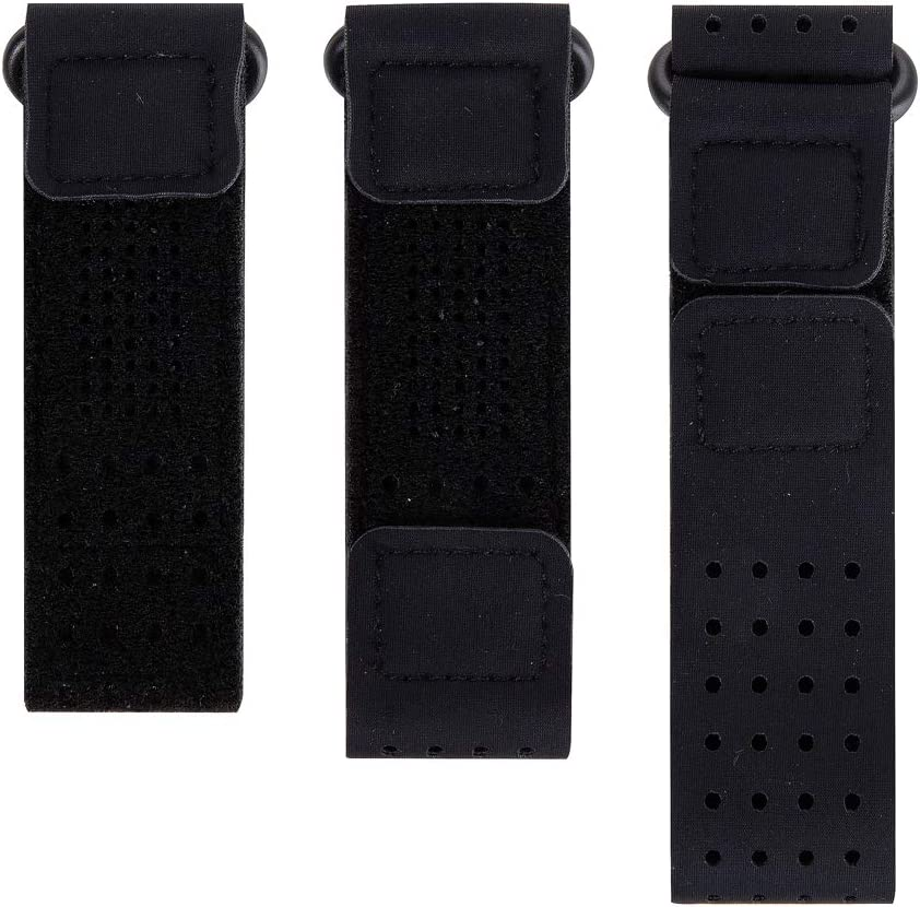 EEweca 3-Pack Bands for Fitbit Inspire or Inspire HR (Wristband+Armband+Ankle Band), Black