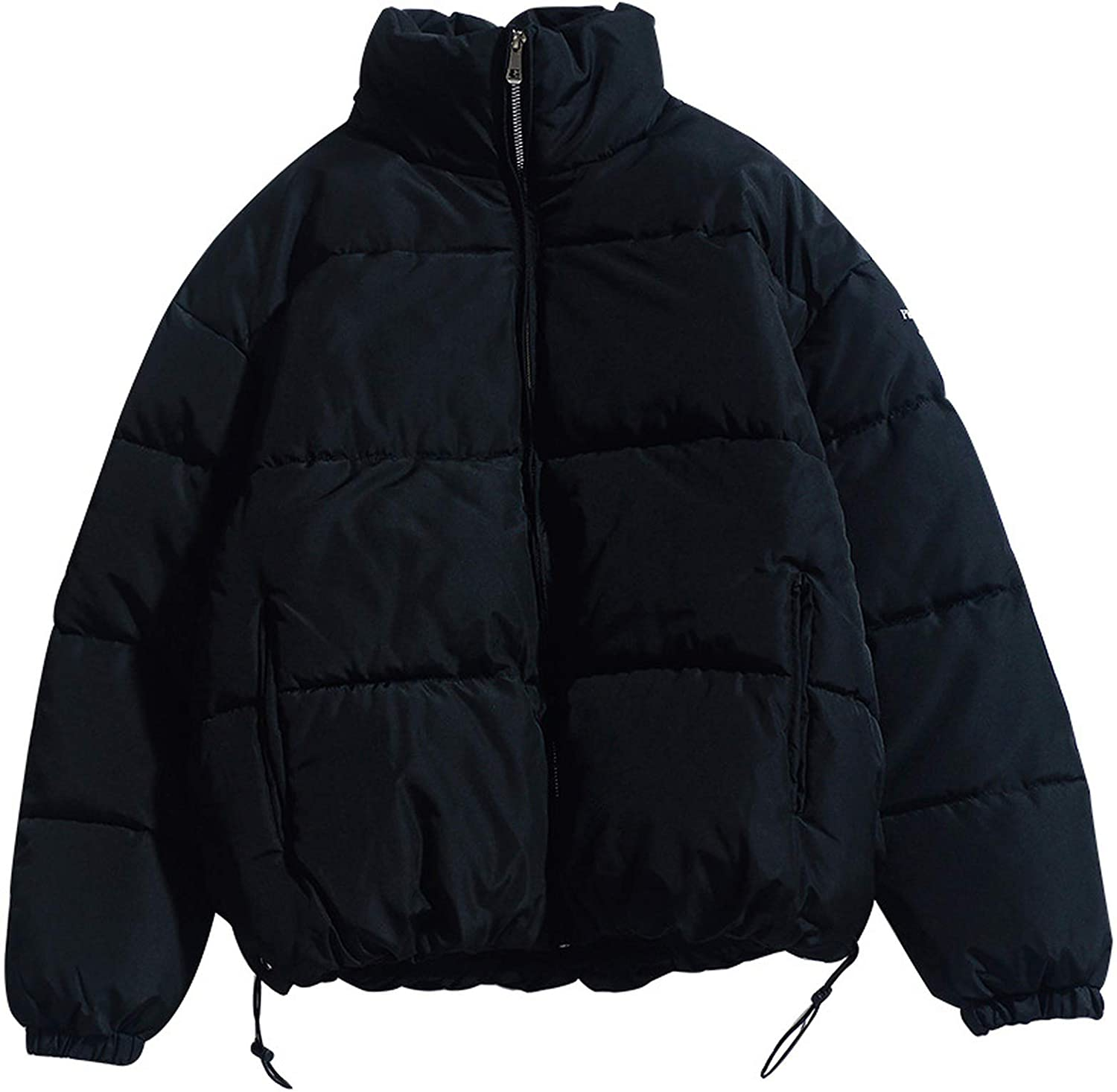 Winter Men Solid Color Parkas Stand Warm Thick Jacket Discount mail order Rare Collar Mal