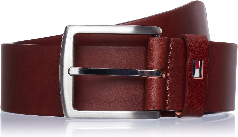 Tommy Hilfiger Denton Flag Logo Leather Belt Cinturón para Hombre