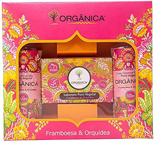 Kit Banho Savon Framboesa e Orquídea 100Ml, Organica