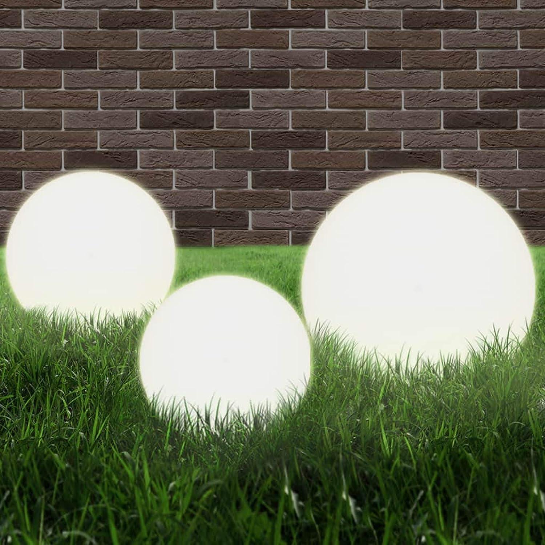 Arichtop LED-Gartenleuchten-Set 3-TLG. Kugelfrmig 20 30 40 cm PMMA