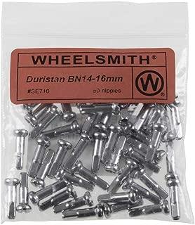Wheelsmith 14 Gage X 16mm Bicycle Spoke Nipples - Brass - Bag of 50