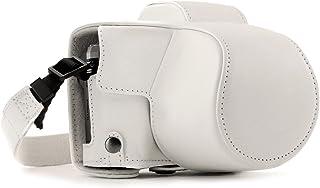 MegaGear MG1349 Estuche para cámara fotográfica - Funda (Funda Polycom OM-D E-M10 Mark III (14-42mm) Tirante para Hombro Blanco)