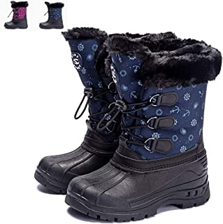 Boys & Girls Toddler/Little Kid/Big Kid Ankle Winter Snow Boots Outdoor Warm Waterproof Slip Resistant Children's Shoes