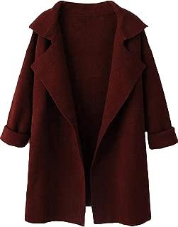 SheIn Women's Long Sleeve Cardigan Lapel Open Front Sweater