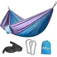 Forbidden Road Portable Parachute Camping Hammock (Blue & Purple)