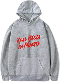 Letter Hoodies Real Hasta La Muerte Fashion Hip Hop Pullover Sweatshirt Casual Hooded Long Sleeve Unisex Sport Harajuku St...