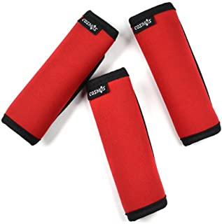 Cosmos 3 PCS Red Color Comfort Neoprene Handle Wraps/Grip/Identifier for Travel Bag Luggage Suitcase
