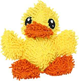 MIGHTY- Microfiber Ball Duck – Made with Squeaker Balls and Minimal Stuffing. Strong & Tough. Interactive Play. Machine Washable & It Floats