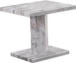 Jiwa Berani Jodi Side Table, Off White - 45H x 45W x 45D cm