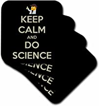 3dRose CST_159616_2 Keep Calm and Do Science Professor Chemistry Teacher Soft Coasters, Set of 8