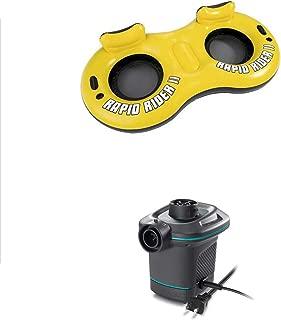 Bestway Rapid Rider 2 Person Pool River Raft Tube Float + AC Electric Air Pump