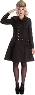 Hell Bunny Victorian Steampunk Military Corset Imma Coat Gray