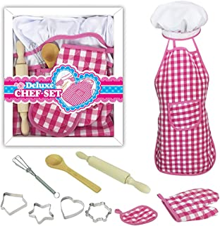 Coxeer DIY Baking Kit Creative Cooking Toy Set Pretend Play Accessories for Children